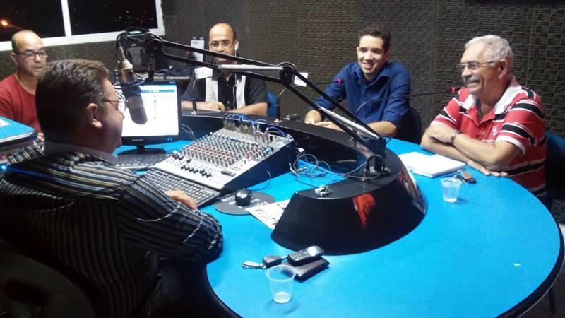 Paulo Fernando e Yves Ribeiro juntos na Rádio Nova FM Recife 106,3
