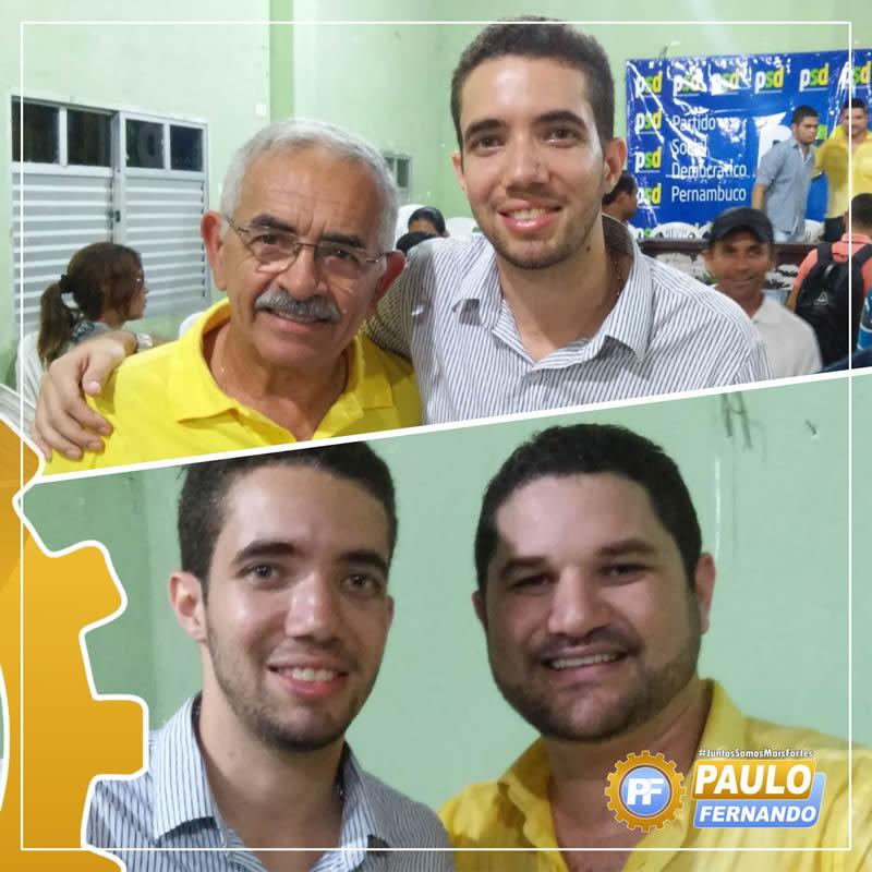 Paulo Fernando prestigia o pré-candidato a prefeito de Itapissuma José Tenório