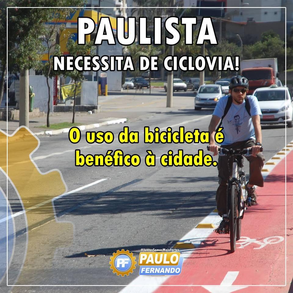 Paulista necessita de Ciclovias