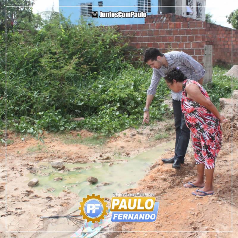 Paulo Fernando é bem recebido nas comunidades Paulistenses