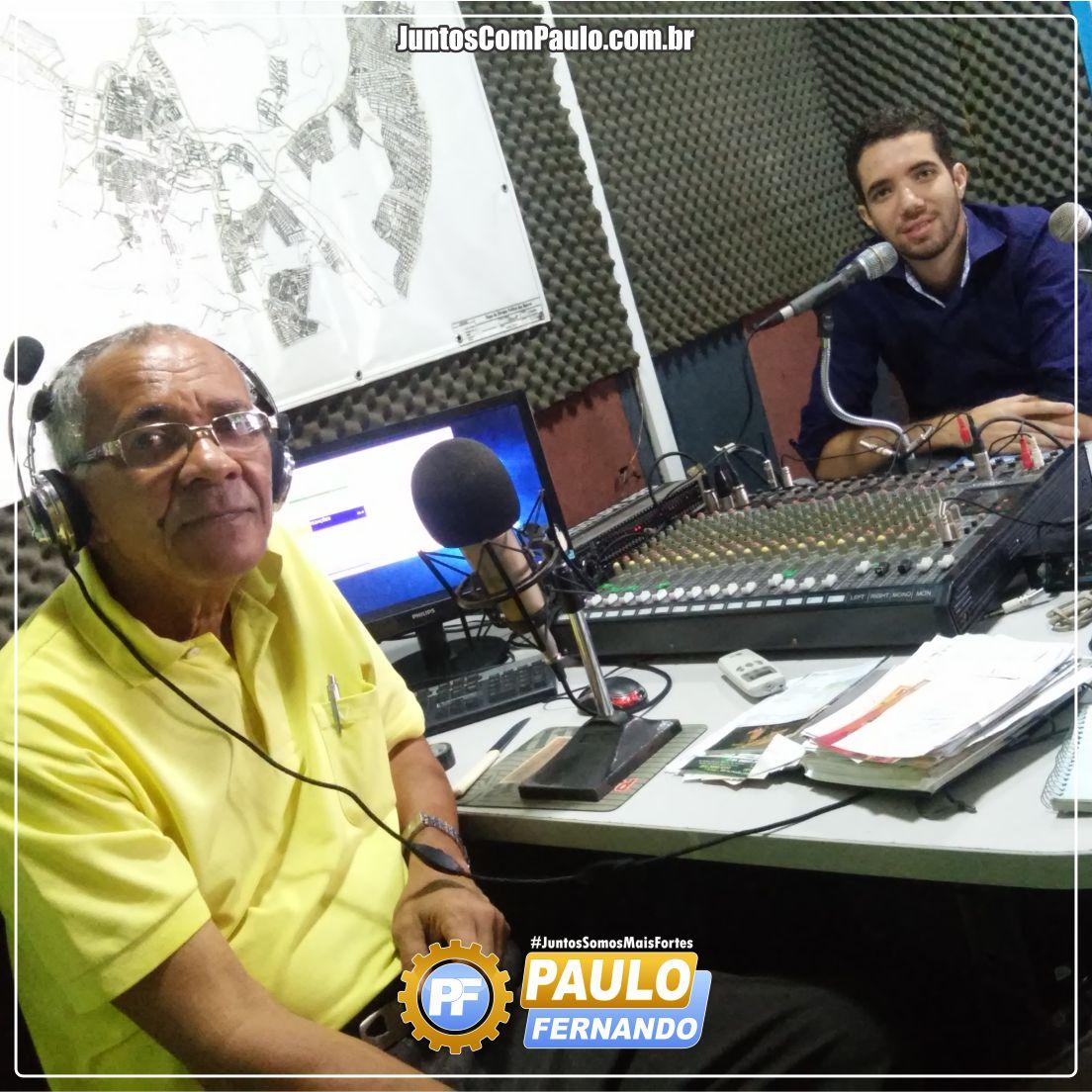 Paulo Fernando na Rádio