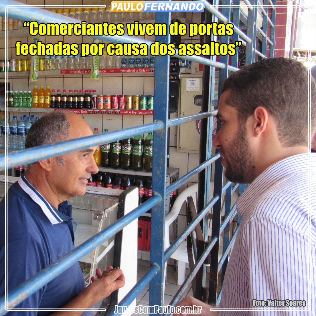 Comerciantes de Paulista apreensivos devido a criminalidade