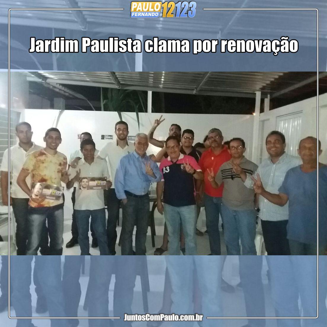 Paulo Fernando em reunião com a população de Jardim Paulista